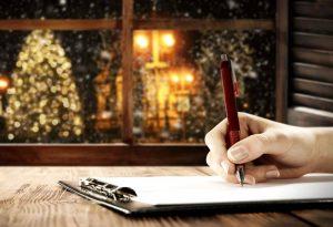 Writing your naughty and nice list during christmas.